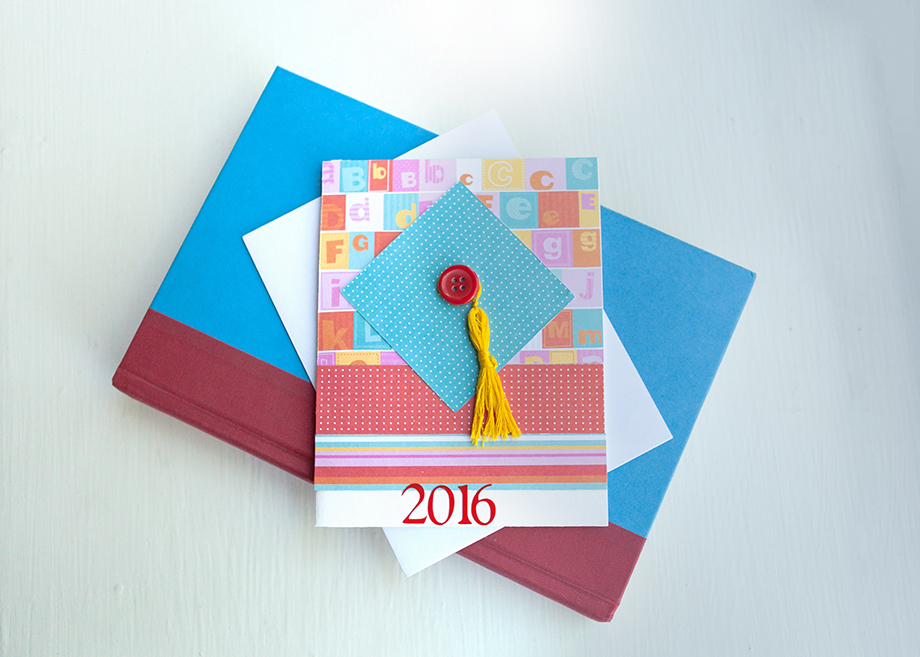 Child's Graduation Card - Blue