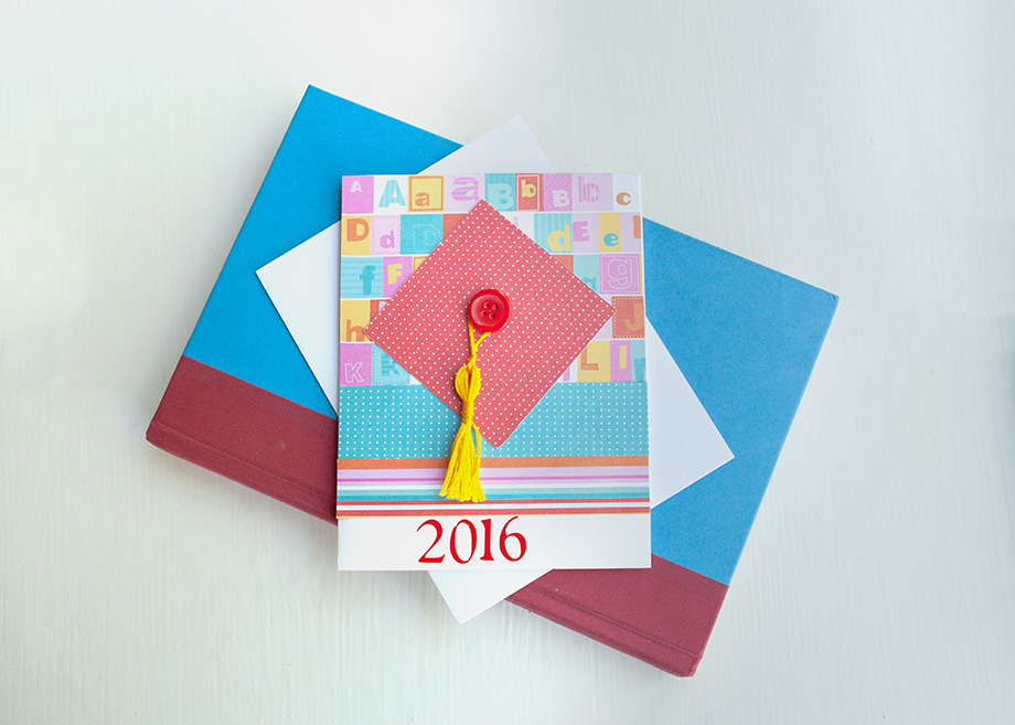 Child's Graduation Card - Red