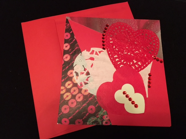 Hearts and Doilies Valentine Card