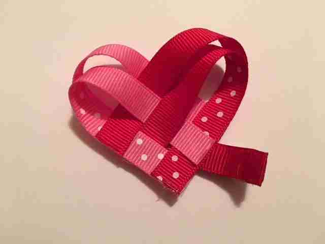 Valentine Ribbon Heart Barrette